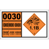 UN0030 - Detonators, Electric Hazchem Placard