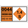 UN0044 - Primers, Cap Type Hazchem Placard