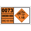 UN0073 - Detonators For Ammunition Hazchem Placard