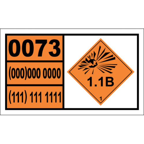 Detonators For Ammunition Hazchem Placard - UN0073