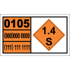 UN0105 - Fuse, Safety Hazchem Placard