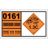 UN0161 - Powder, Smokeless Hazchem Placard
