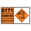UN0171 - Ammunition, Illuminating Hazchem Placard