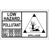 LH001 - Environmental Hazard Hazchem Placard