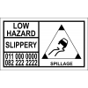 LH002 - Slippery Hazard Hazchem Placard