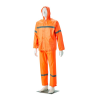 DROMEX Rubberised Hi-Viz Reflective Rain Suit - Orange