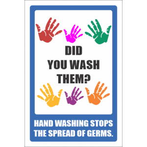 SSE023 - Did You Wash Your Hands Sign