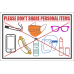 SSE076 - Don't Share Personal Items Sign