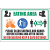 SSE025 - Eating Area Sign