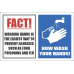 SSE030 - Fact Wash Hands Sign