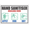 SSE031 - Hand Sanitiser Available Here Sign