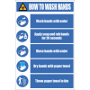 SSE034 - How To Wash Hands Sign
