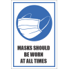 SSE039 - Masks Should Be Worn All The Time Sign