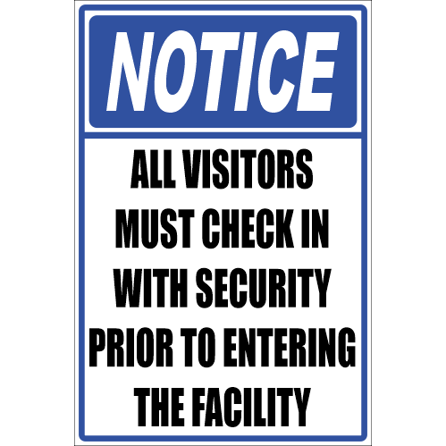 SSE042 - Notice - All Visitors Sign