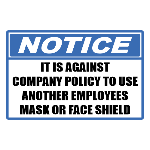 SSE043 - Notice - Mask or Face Shield Sign