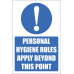 SSE048 - Personal Hygene Rules Sign
