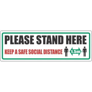 SSE020 - Please Stand Here Floor Sticker