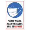SSE051 - Please Wear A Mask Sign