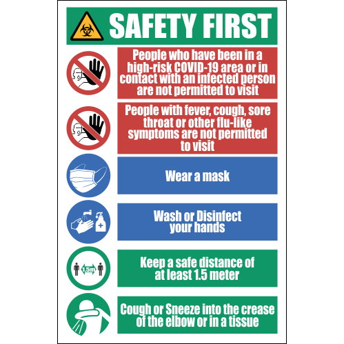 SSE055 - Safety Precaution Sign #2