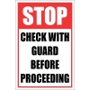 SSE067 - Stop - Check With Gaurd First Sign