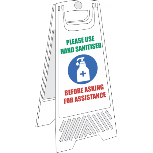 SSE070 - Use Hand Sanitiser Floor Stand