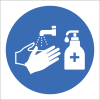SSE071 - Wash & Sanitise Hands Sign