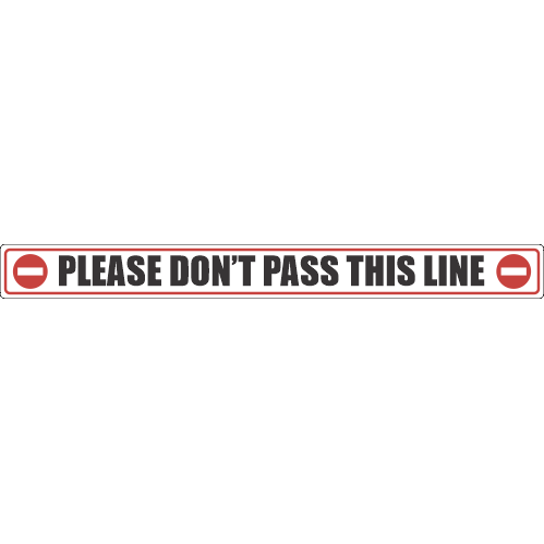 SSE021 - Please Don't Pass This Line Sticker