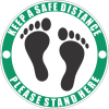SSE018 - Please Stand Here - Green Sticker