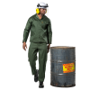 DROMEX Poly Cotton Acid Resistant Conti Suit - Olive Green