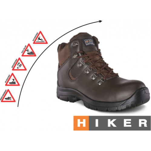 DOT Hiker Safety Boot - Brown