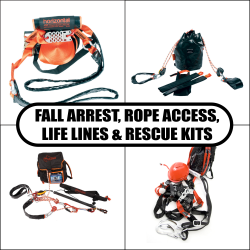 Fall Arrest, Rope Access, Life Lines & Rescue Complete Kits