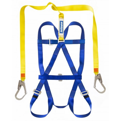 WAH007 - Belted Harness (SC2) - Double Scaffold Hooks c/w 45mm Chest Strap