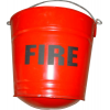 Fire Bucket - Round Bottom - Steel
