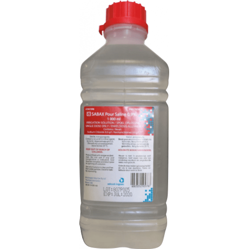 Sodium Chloride 0.9% - Eyewash Fluid - 1lt Bottle