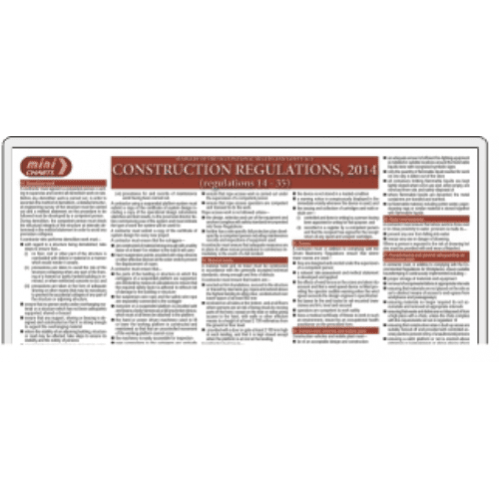 Occupational Health & Safety (OHS) Act - Construction Regulation - 2014 - Part 2 - Poster