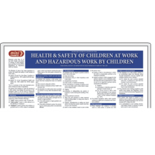 Health & Safety of Children at Work - Poster