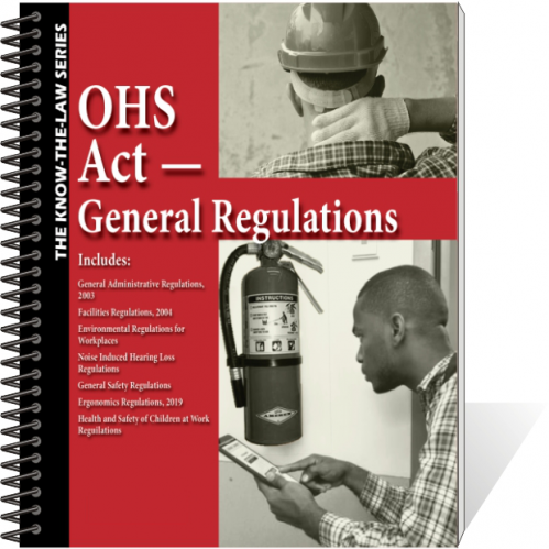 Book - OHS Act - General Regulations