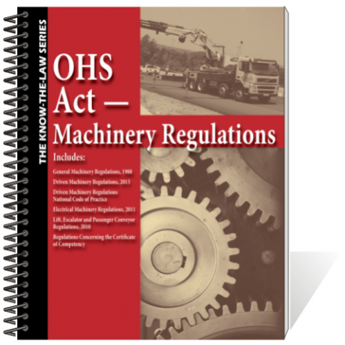 Book - OHS Act - Machinery Regulations