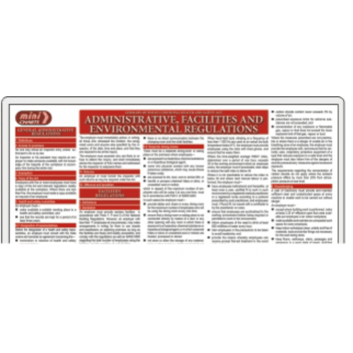 Occupational Health & Safety (OHS) Admin, Facilities & Environment Regulations - Poster