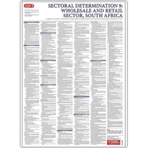 Sectorial Determination 9: Wholesale & Retail Sector - Poster