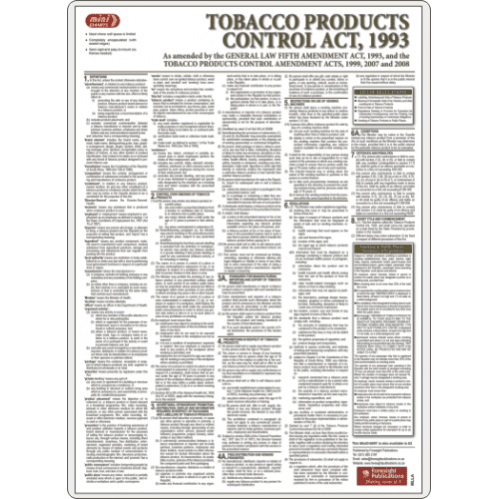 Tobacco Products Control Act -  Poster