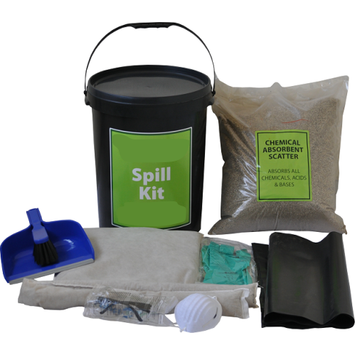 45L Chemical Lab Spill Kit - Sealable Bucket