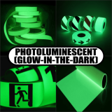Photoluminescent (Glow-In-The-Dark) Tapes & Vinyls