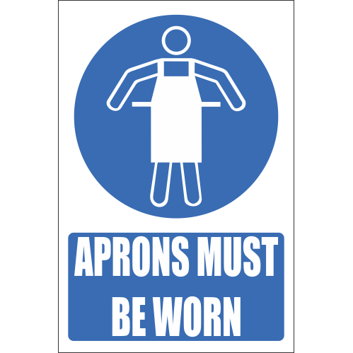 H1 - Aprons Must Be Worn Sign