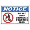 H5 - Do Not Dump Chemicals Sign