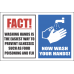 H7 - Fact Wash Hands Sign