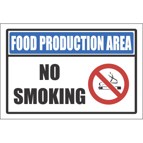 H8 -  Food Production Area Sign