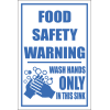 H9 - Food Safety Warning Sign