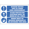H12 - Hygiene Notice Sign