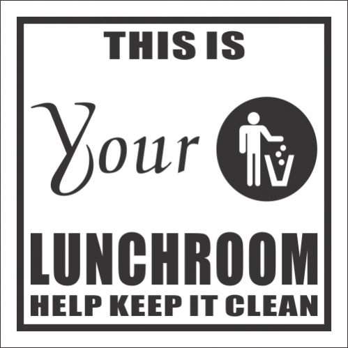 H14 -  Lunch Room Sign